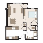 The Oriole 1 Bedroom | 656 sq. ft.$ Call For Pricing