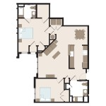 The Raven 2 Bedroom | 1138 sq. ft.$ Call For Pricing