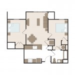 The Russell2 Bedroom | 816 sq. ft.$ Call For Pricing